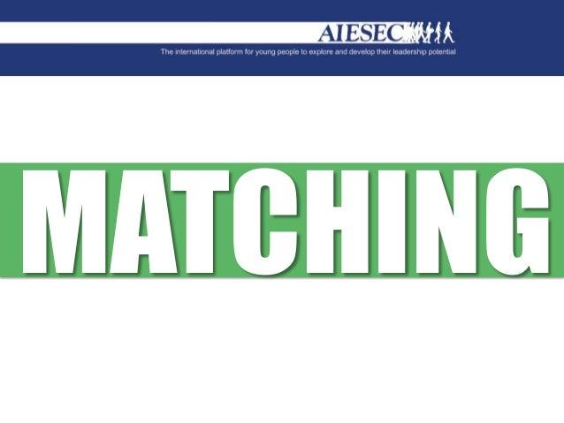 Matching Training