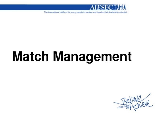 Match Management