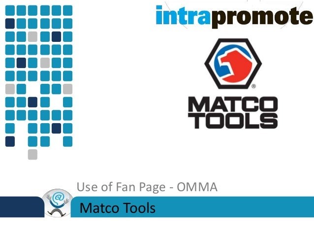 Case Study: Using a Facebook Fan Page (Matco Tools)