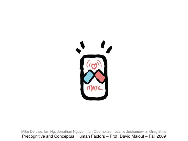 Mike Deluise, Ian Ng, Jonathan Nguyen, Ian Oberholtzer, Joanie Jochamowitz, Greg Sims <br />Precognitive and Conceptual Hu...