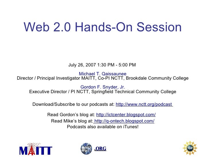 Matec Web2 Session Thurs