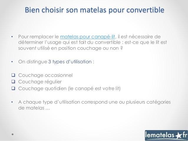Remplacer un matelas de canap convertible for Comment choisir un matelas