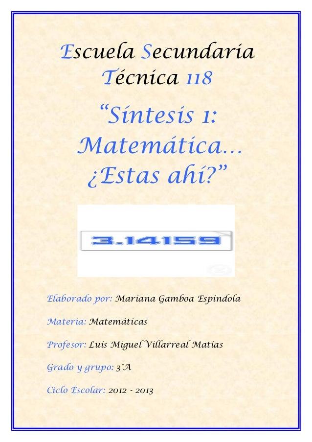 Matematica. gamboa