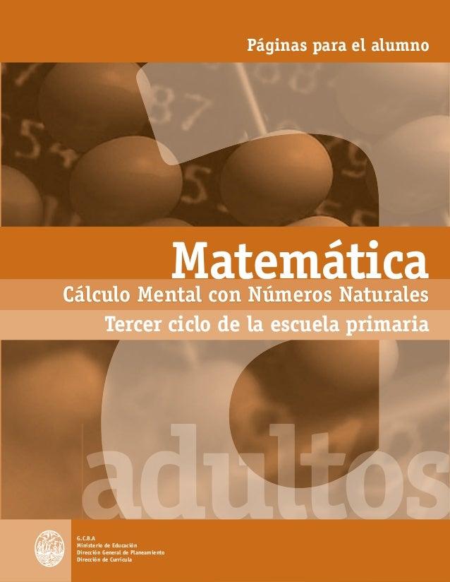 Matematica1 a calculo mental