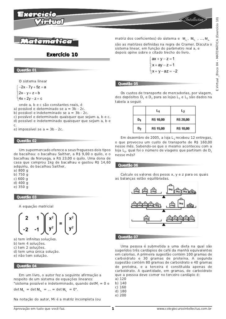 E.Virtual _Bloco 04 - MATEMÁTICA (Exercício 10)                                                              matriz dos co...