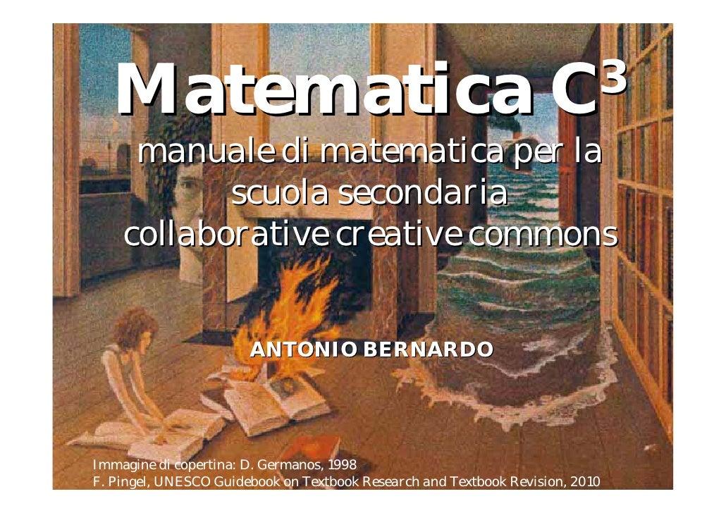 Matematica                                                        C 3      manuale di matematica per la            scuola ...