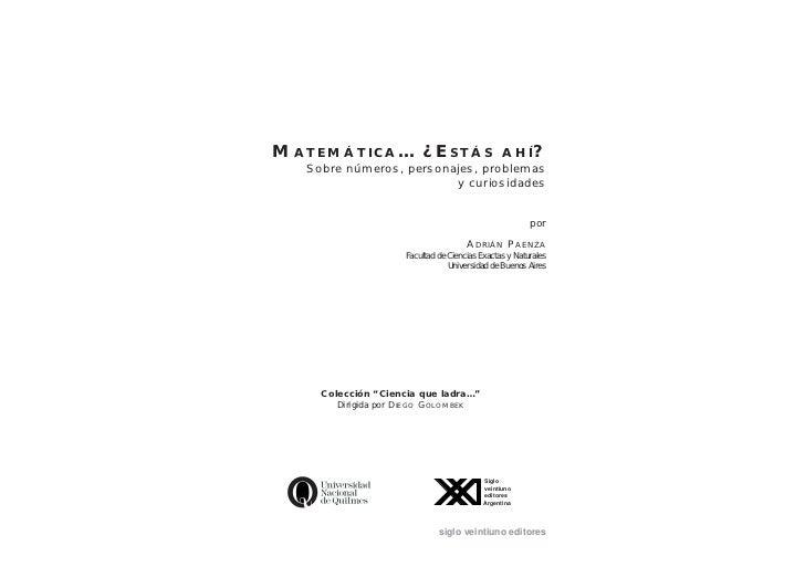 Matematica estasahi