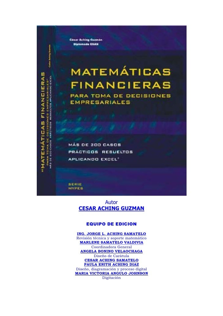 Matematica financiera