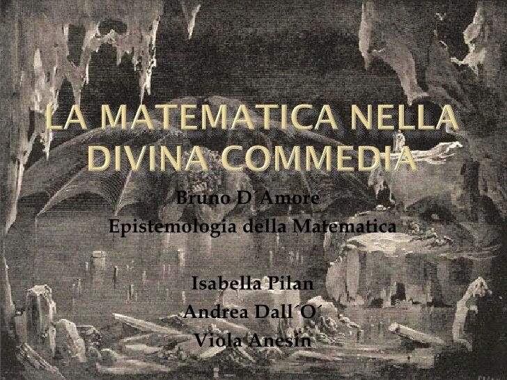 Bruno D´Amore  Epistemologia della Matematica Isabella Pilan Andrea Dall´O´ Viola Anesin