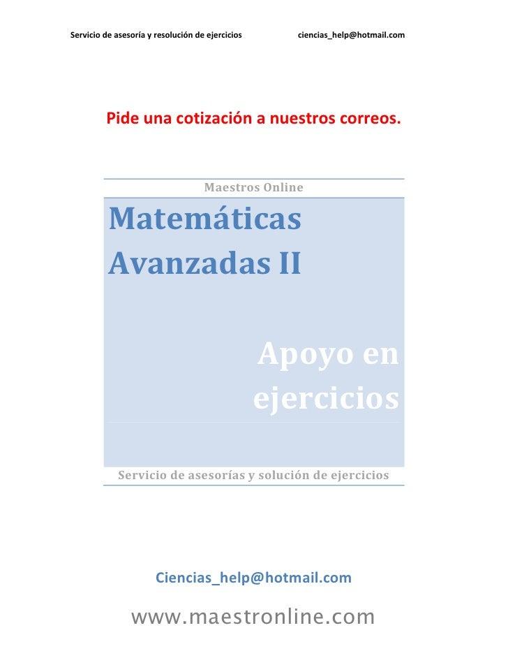 Matematicas avanzadas ii 09104