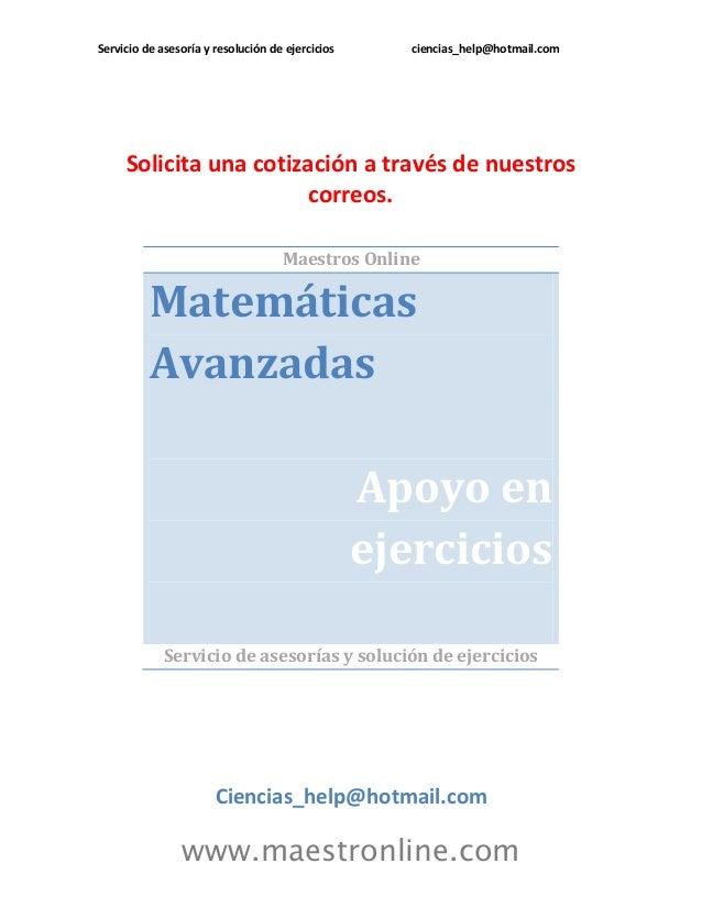 Matematicas avanzadas ma13201 2013