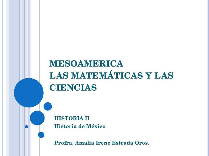 Matematicas En Mesoamerica