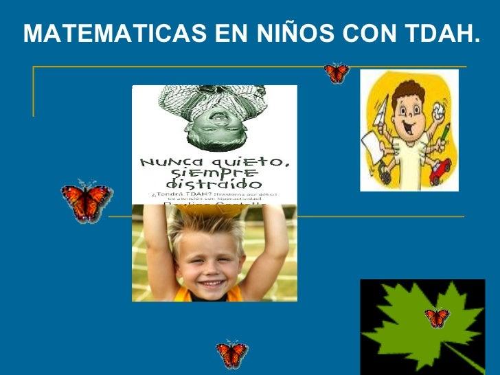 Matematicas En Niños Con Tdah