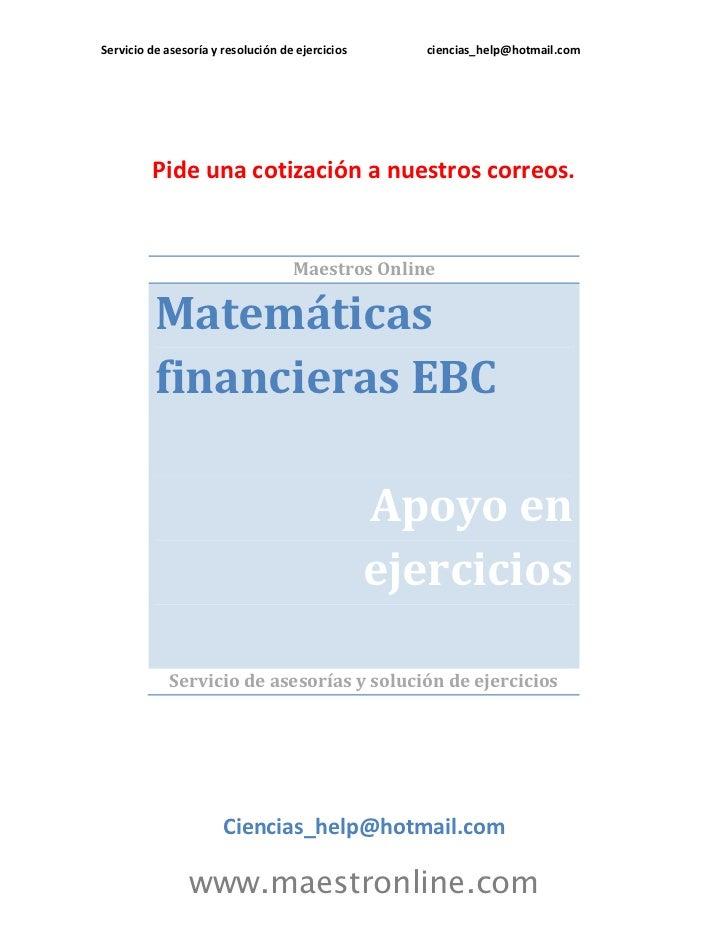 Matematicas financieras ebc