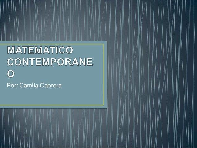 Matematico contemporaneo