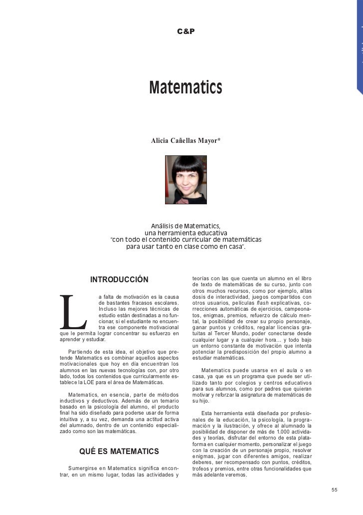 C&P                                      Matematics                                       Alicia Cañellas Mayor*          ...