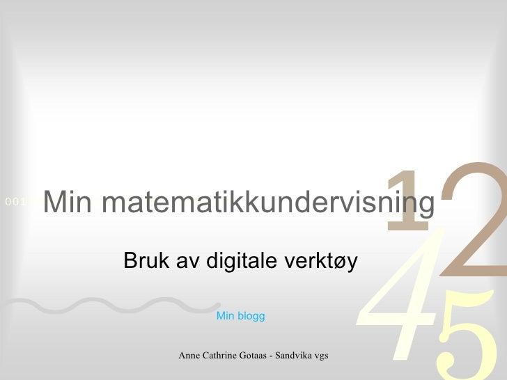 Matematikk Drammen Nov 09