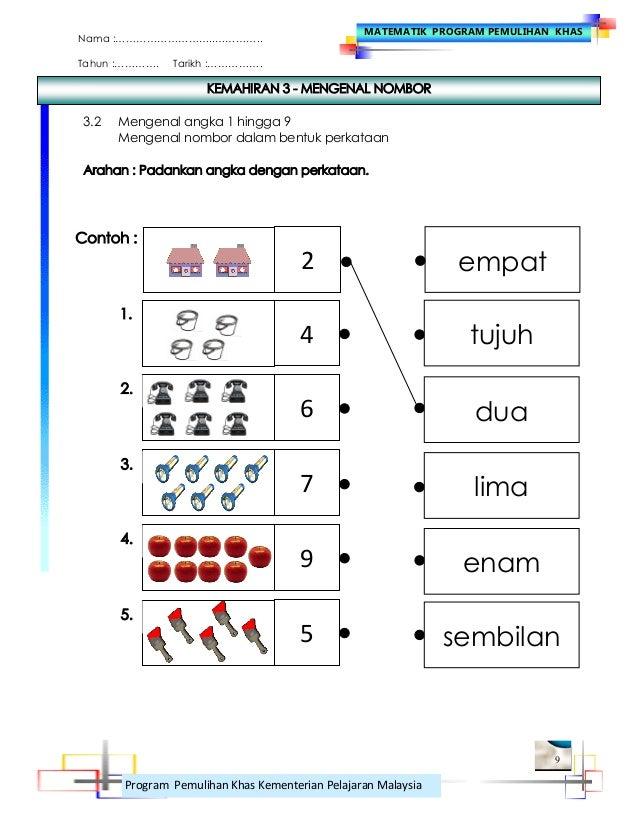 Mengenal Nombor 1-9 Menulis Nombor 1 Hingga 9