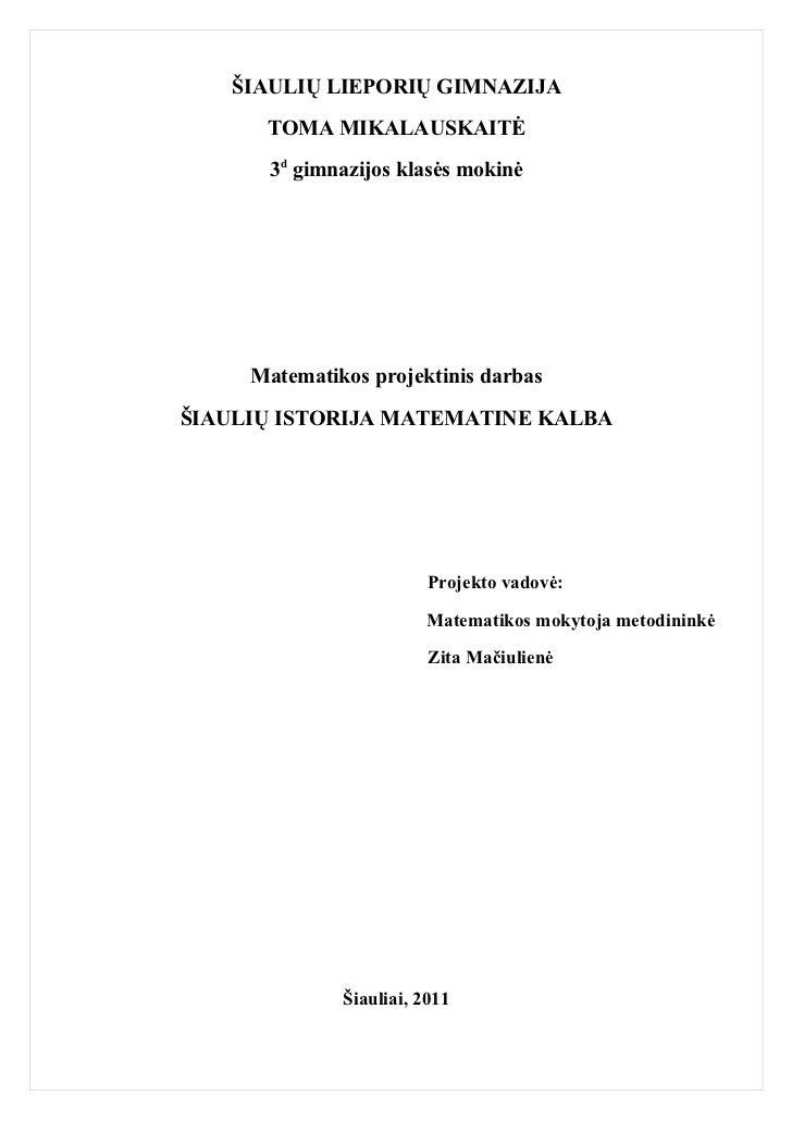 Matematikos projektas 3
