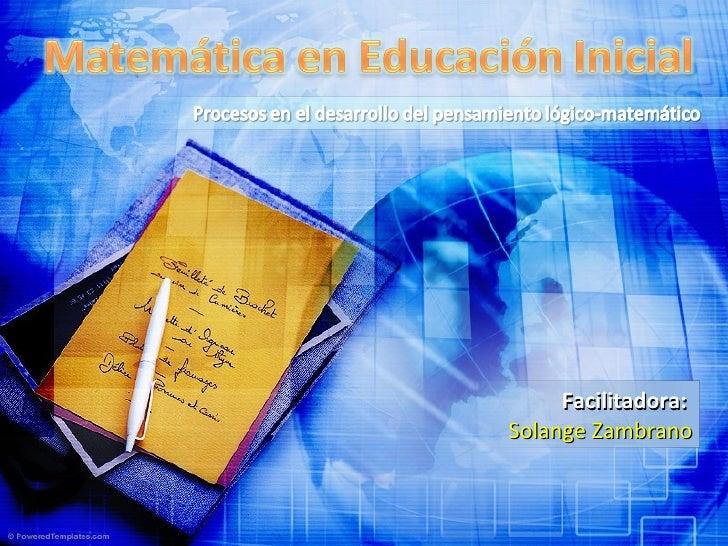 Matemática En Educación Inicial