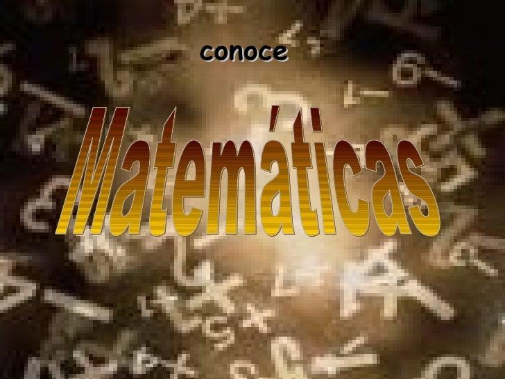 Matemáticas conoce