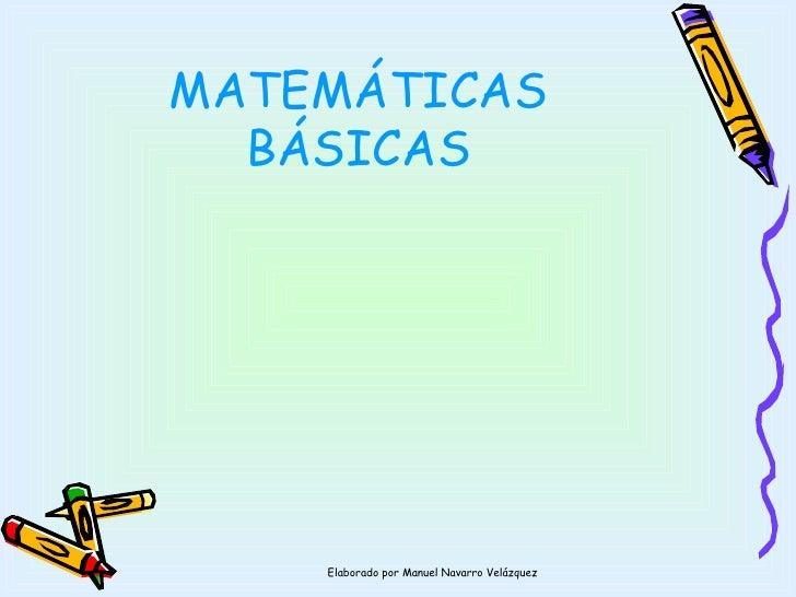 Matemáticas basicas final