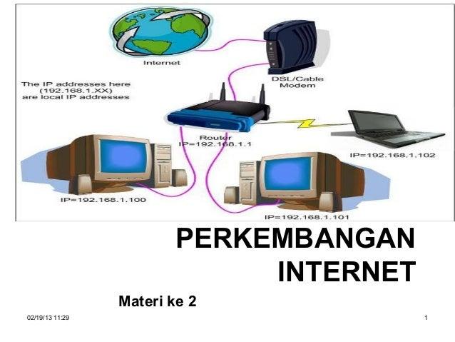 PERKEMBANGAN                             INTERNET                 Materi ke 202/19/13 11:29                          1