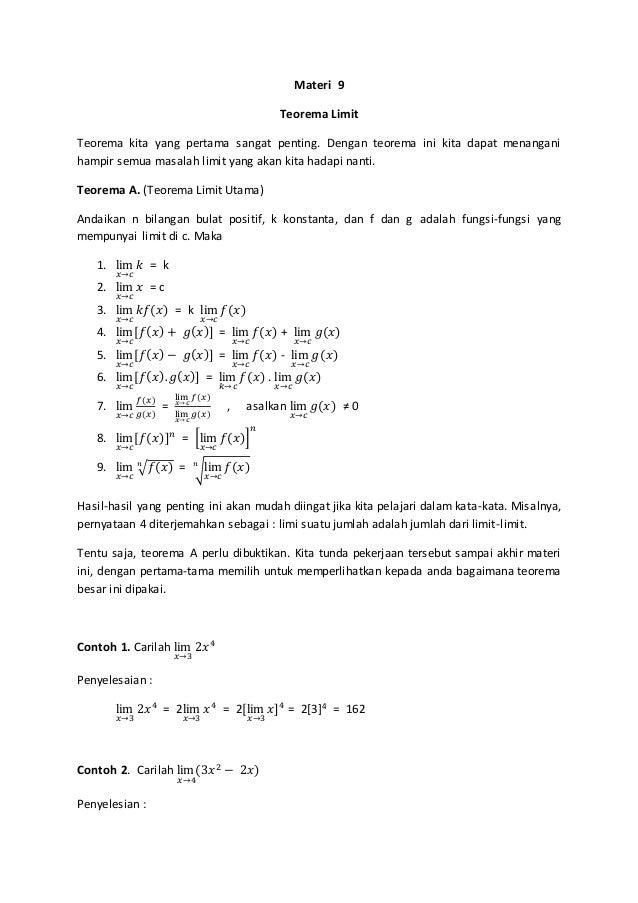 teorema limit