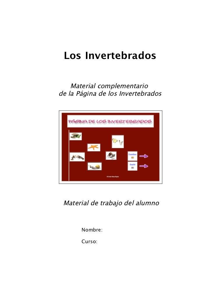 Materialclaseinvertebrados