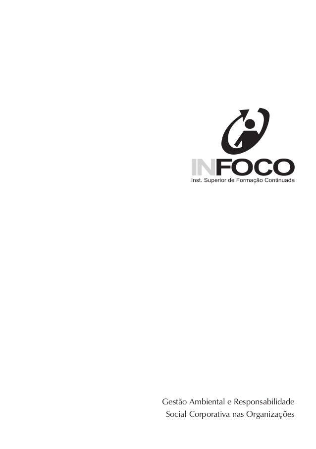 Gestão Ambiental e Responsabilidade Social Corporativa nas Organizações