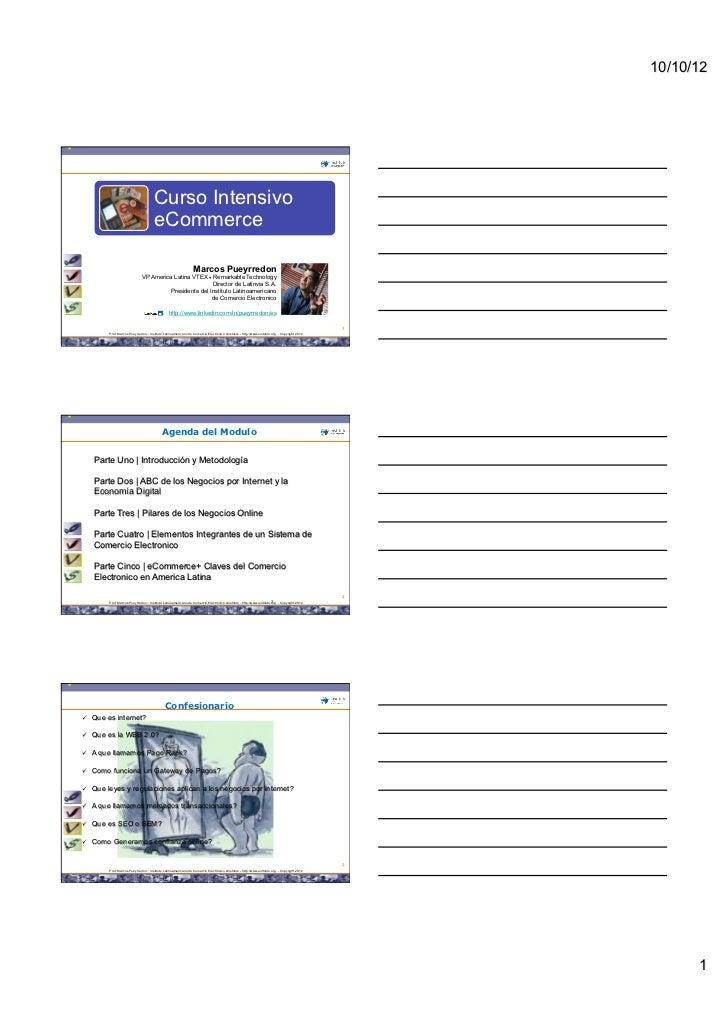 Material de Apoyo Curso Intensivo de Comercio Electronico - eCommerce