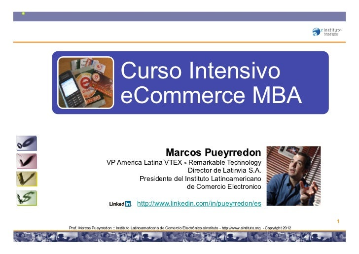 Curso Intensivo                              eCommerce MBA                                                         Marcos ...