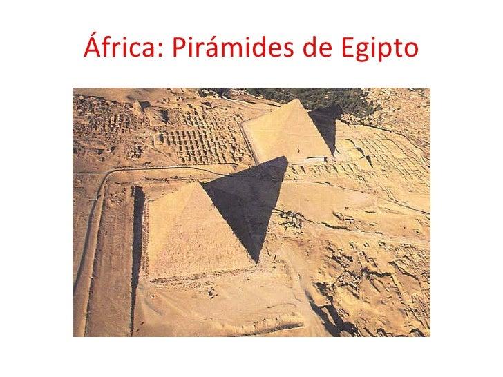 África: Pirámides de Egipto