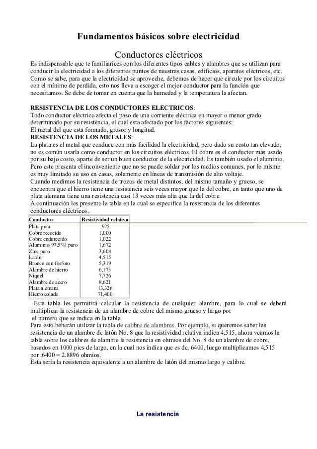 Material de estudio y trabajo.resistencias y resistores. octubre 2012
