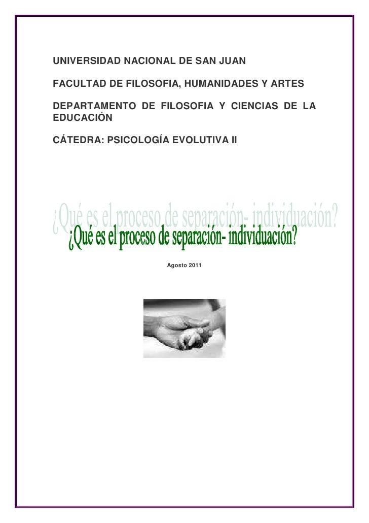 UNIVERSIDAD NACIONAL DE SAN JUANFACULTAD DE FILOSOFIA, HUMANIDADES Y ARTESDEPARTAMENTO DE FILOSOFIA Y CIENCIAS DE LAEDUCAC...
