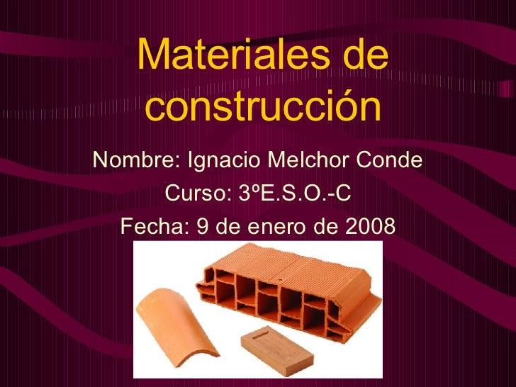 Materiales de construcci n - Materiales para la construccion ...