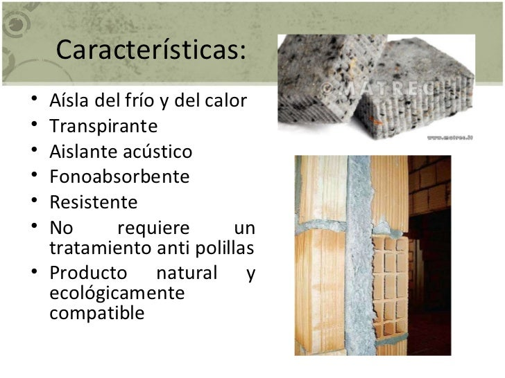 Materiales absorbentes for Materiales aislantes de frio