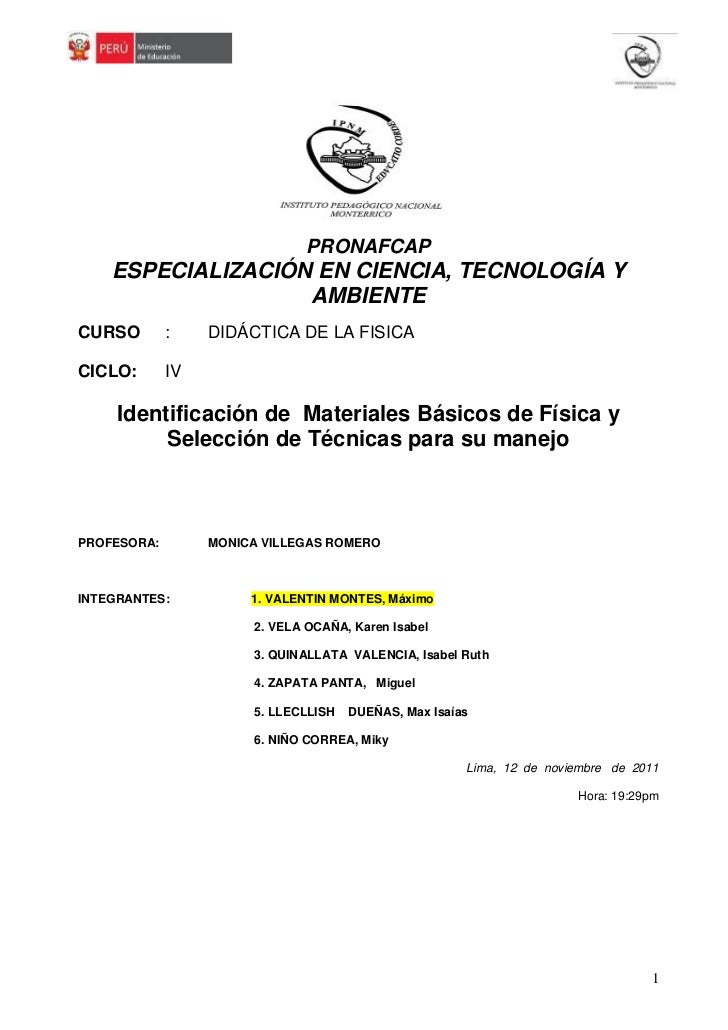 Materiales de laboratorio de fisica