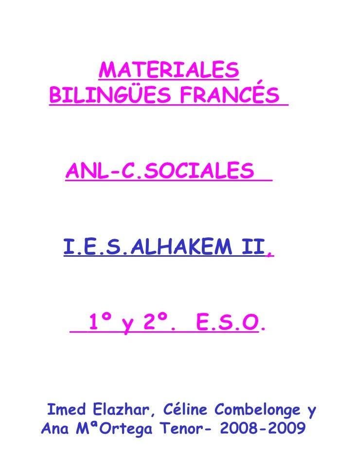 Materiales BilingüEs FrancéS Anl C.Sociales