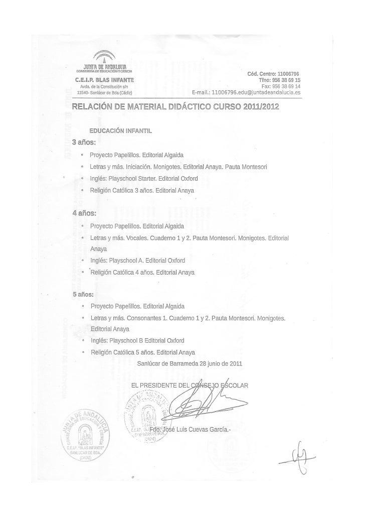 Material didáctico curso  2011