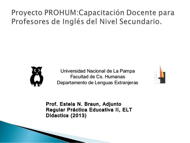 Universidad Nacional de La PampaUniversidad Nacional de La PampaFacultad de Cs. HumanasFacultad de Cs. HumanasDepartamento...