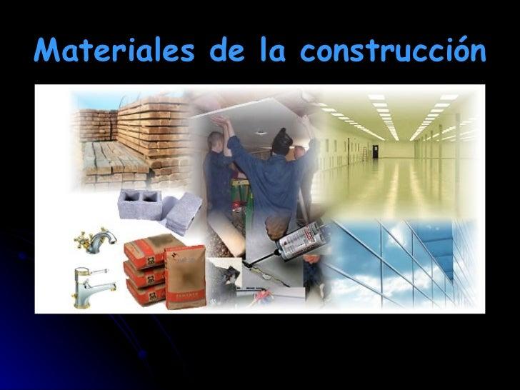 Materiales de la construcci n - Materiales para la construccion ...