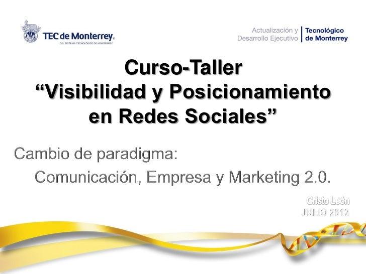 Módulo 1 del curso visibilidad y posicionamiento en redes sociales by cristo leon