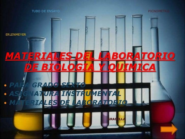 Materiales del laboratorio de biologia y quimica