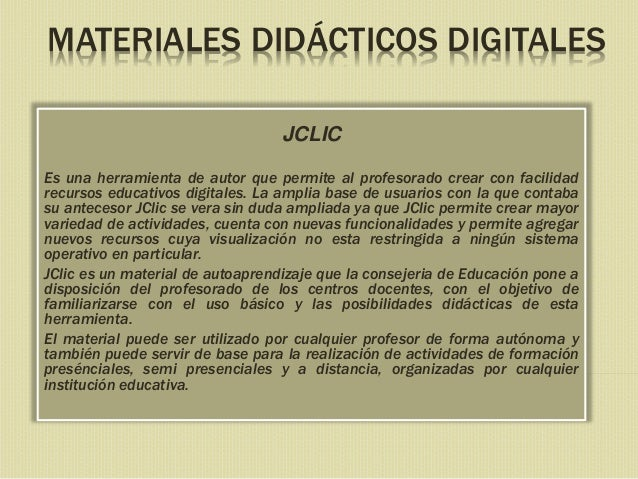 Materiales didácticos digitales