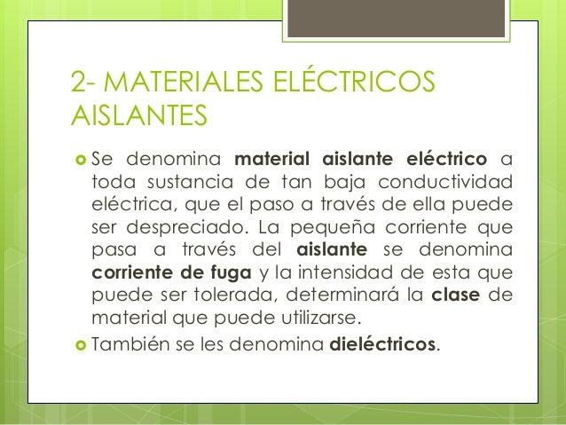 Materiales el ctricos - El material aislante ...