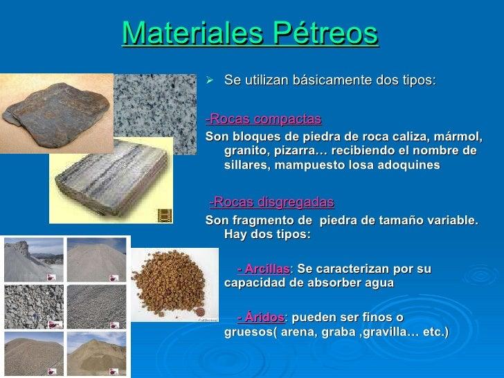 Materiales para la construcci n presentacion for Marmol material de construccion