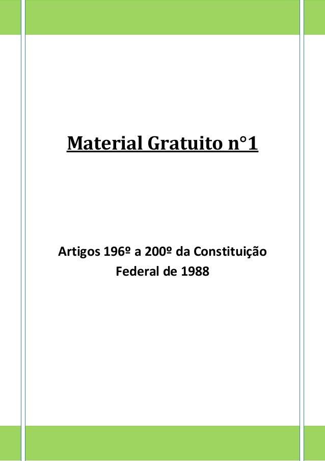 Constituicao federal artigos de 194 a 200 do sus