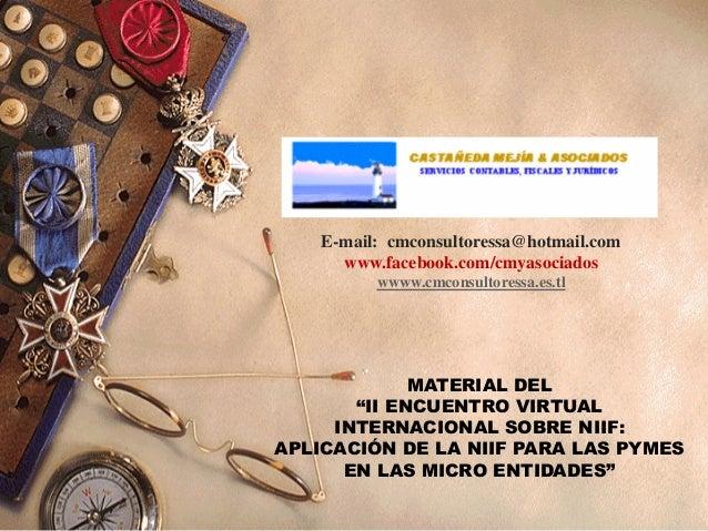 Material del II Encuentro Virtual Internacional sobre NIIF