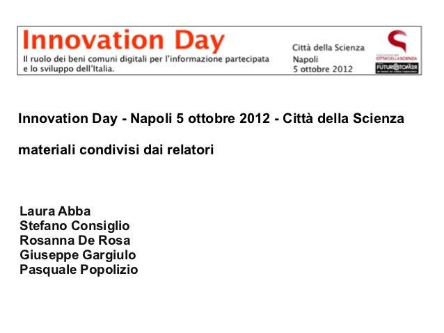 Innovation Day - materiali condivisi dai relatori